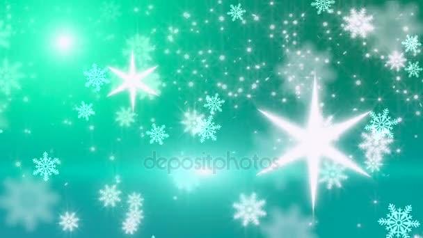 Vánoční pozadí, padající vločky, rozmazané pozadí Vánoce, šťastný nový rok
