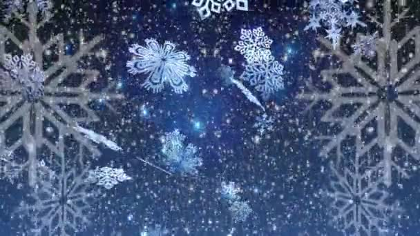Christmas background , Falling snowflakes, blurred Christmas background, Happy New Year