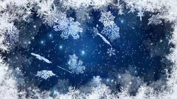 Weihnachten, Weihnachtshintergrund, fallende Schneeflocken, verschwommener Weihnachtshintergrund, frohes neues Jahr