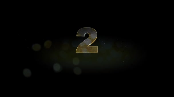 Countdown - Awards. Bright Holiday countdown of the time with golden numbers from 0 to 10 and firework at the end