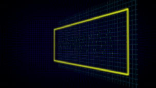 Wave Signal. Set of HUD Elements. Modern ART design element