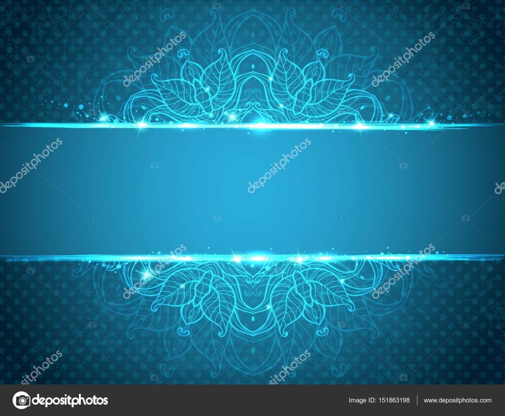 Vintage Blue Floral Background Stock Vector C Artness 151863198