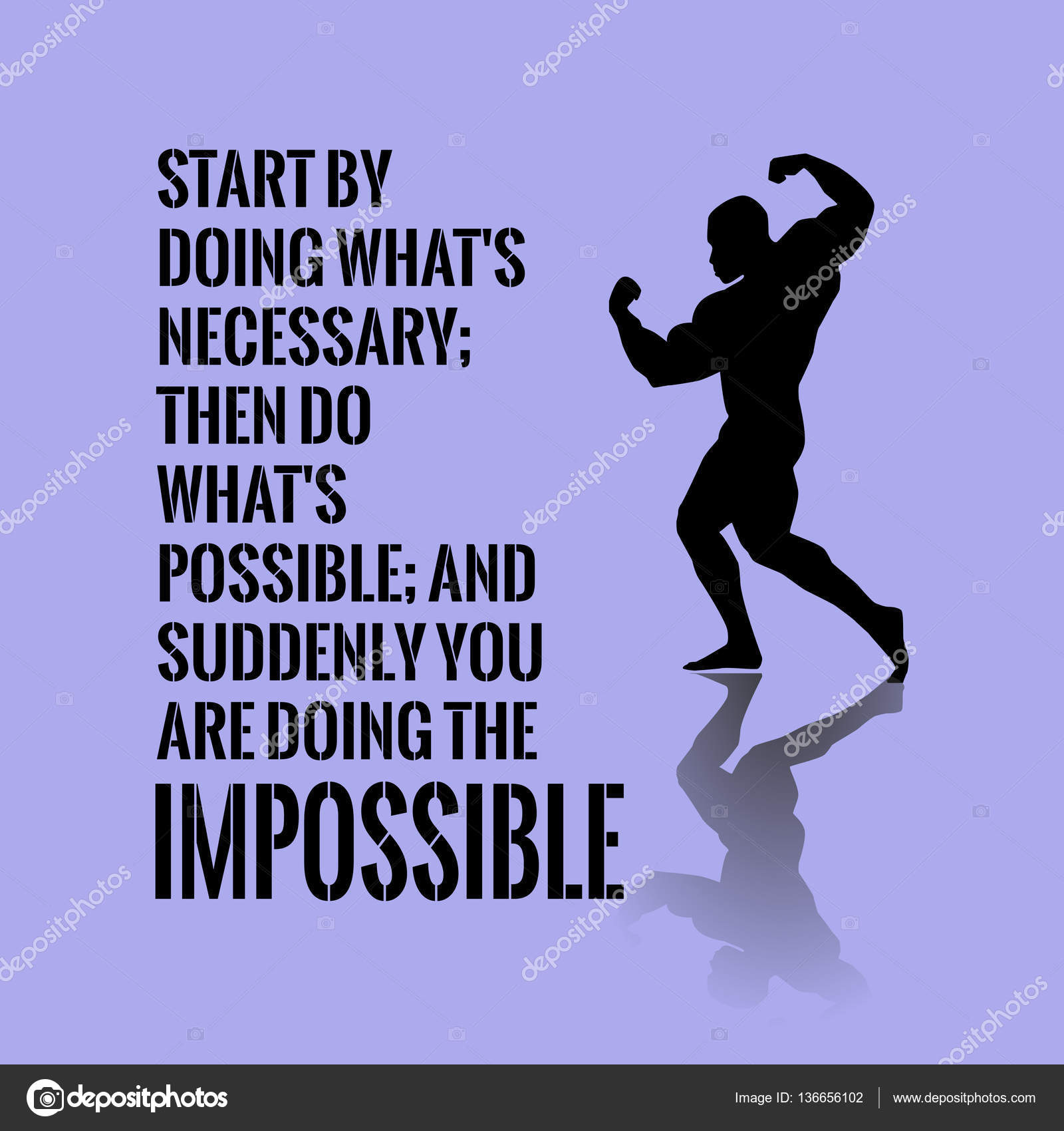 Motivational Quote Success Start By Doing Whats Necessary Th