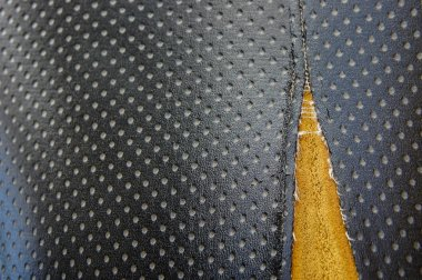 Old leather upholstery Leather upholstery lack