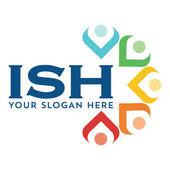Lidé logo barva Společenství Skupina firemní Identita šablony design modrá, žlutá, azurová, zelená