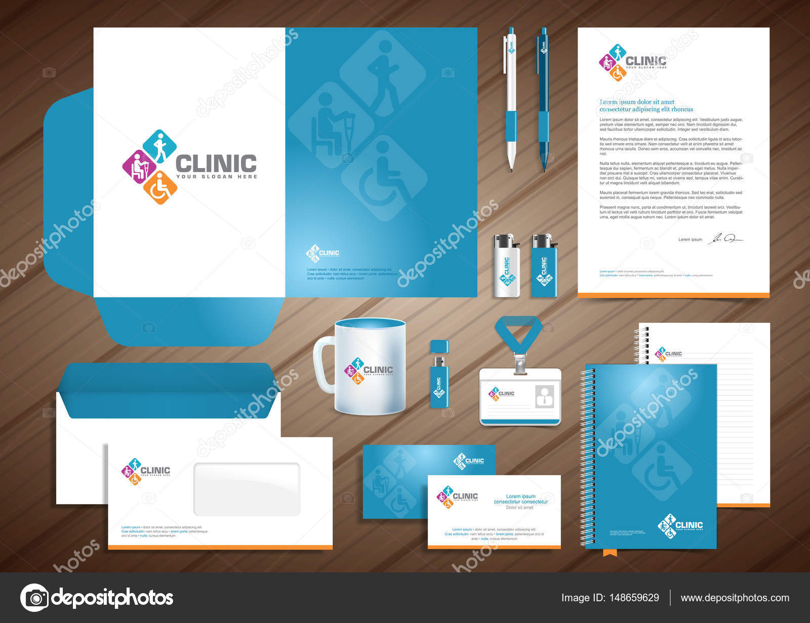Medical diagnostics center, chiropractic, spine clinic logo ...