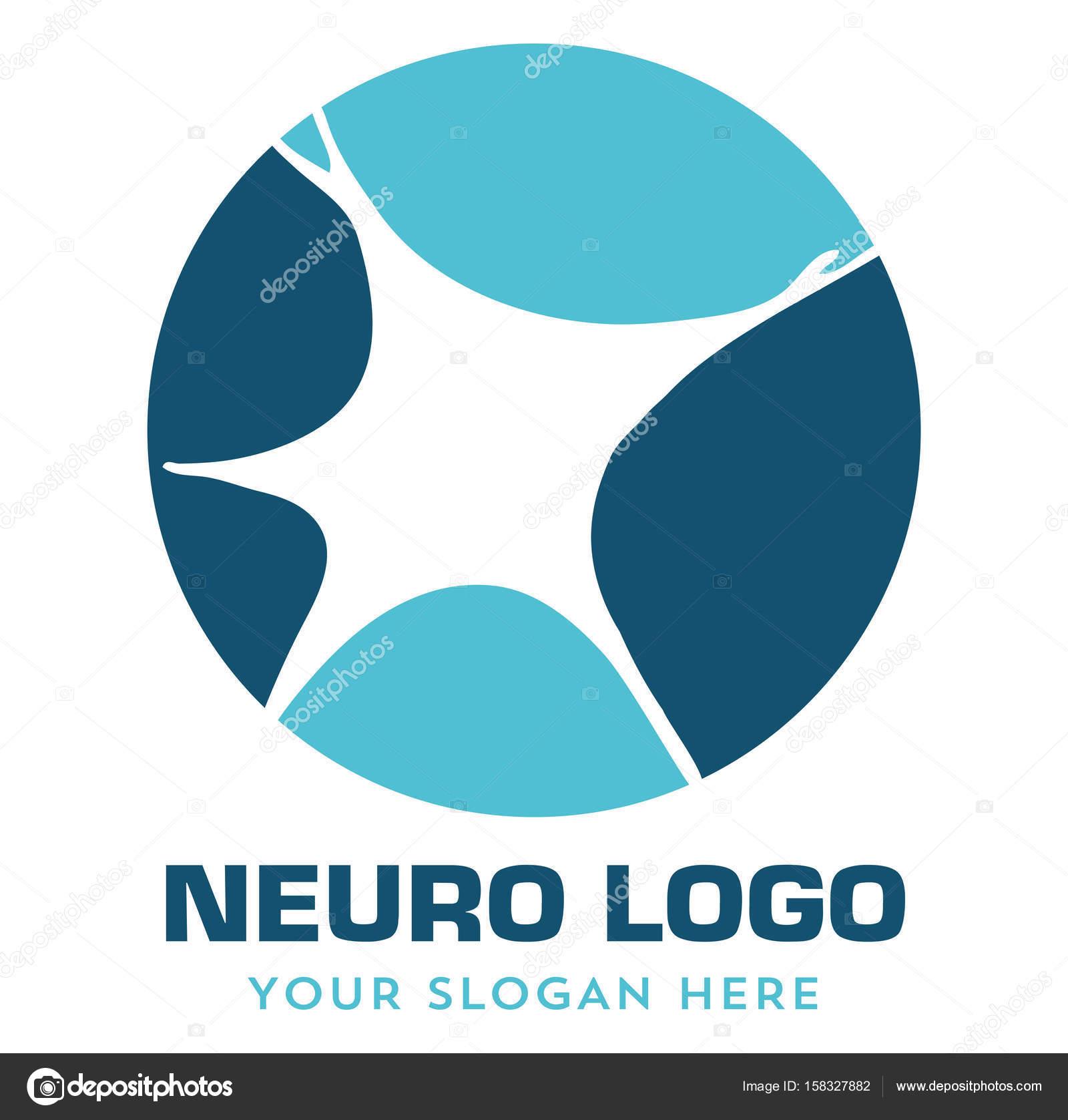 neuro de neurolog237a m233dica logo � vector de stock