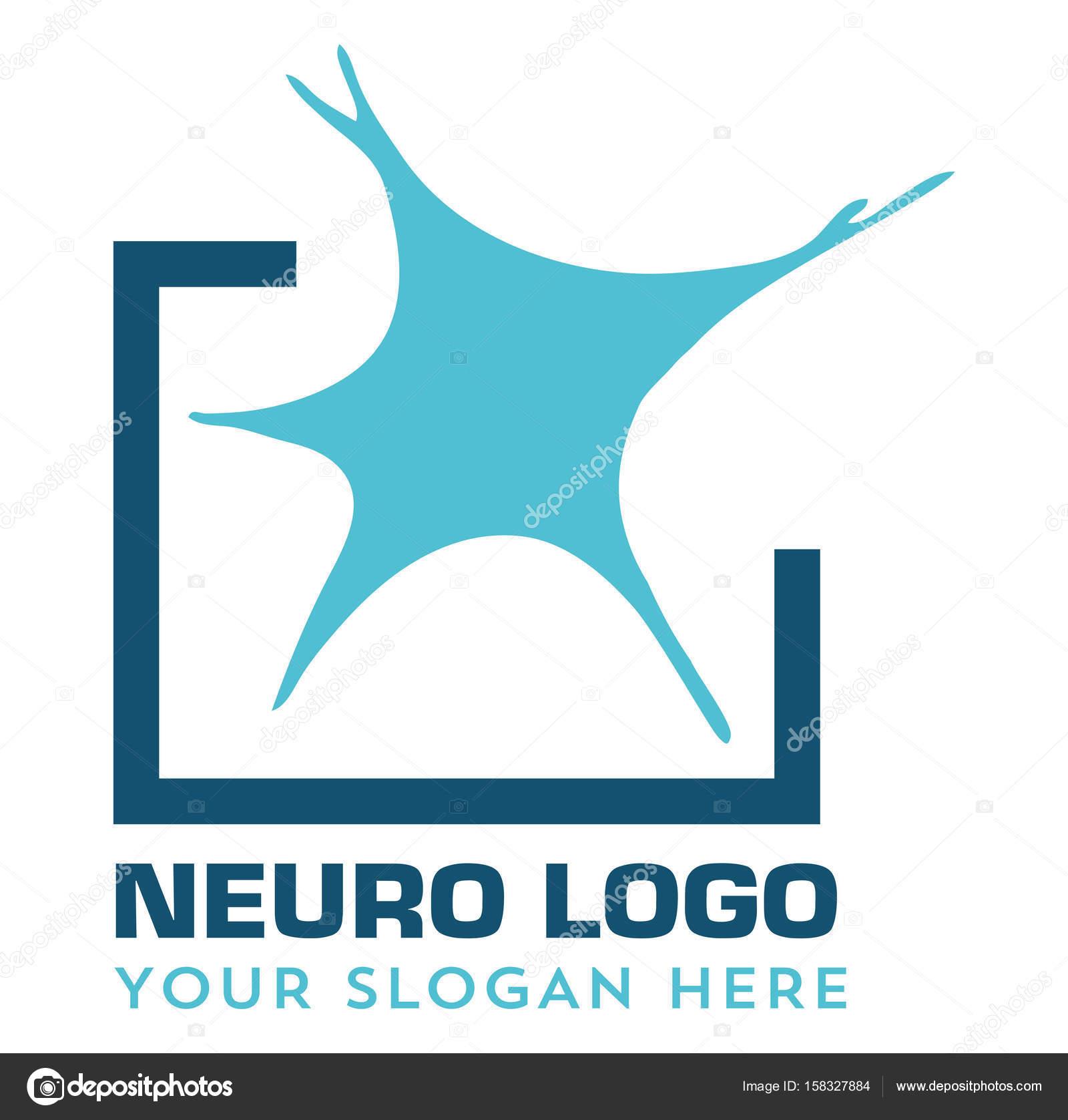 neurology neuro medical logo � stock vector