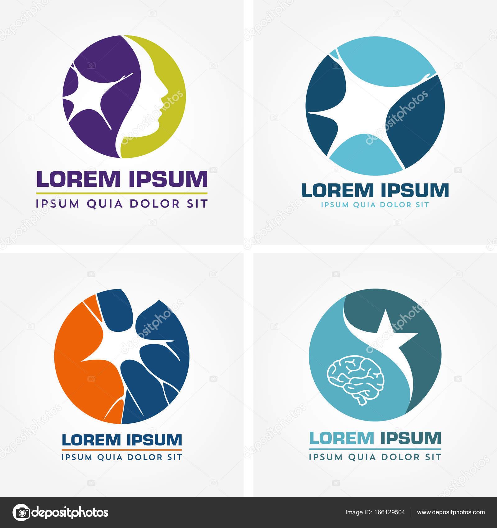 Abbildung des Nervensystems und neurologische Krankheiten Logo ...