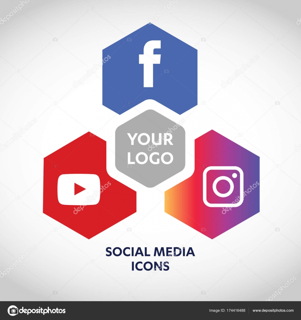 Flat Icons Technology Social Media Network Computer Concept