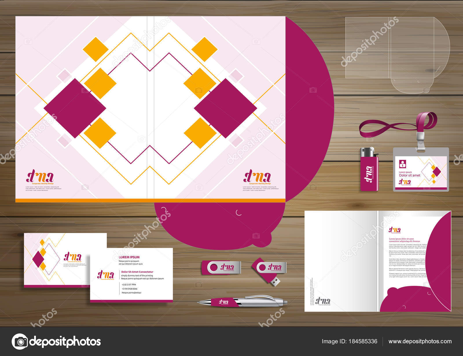 Folder template design digital technology company element stationery folder template design digital technology company element stationery people community stock vector accmission Images