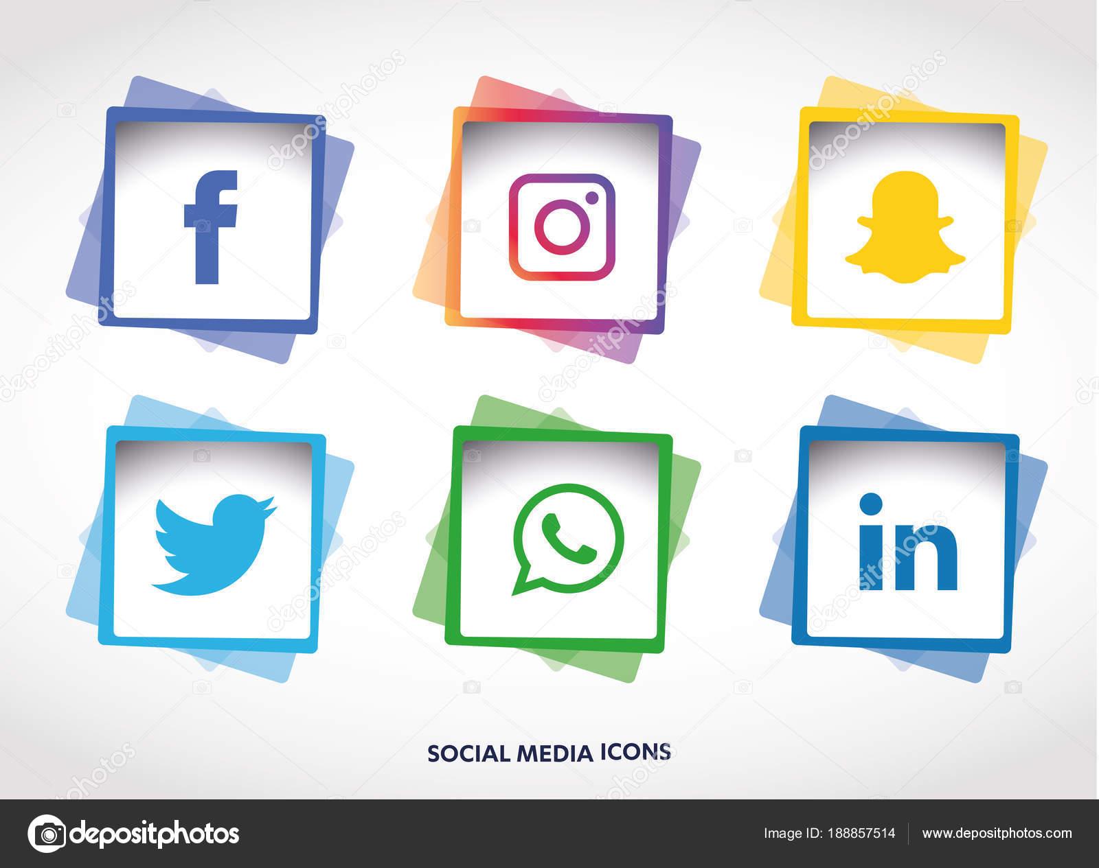 Conjunto Iconos Redes Sociales