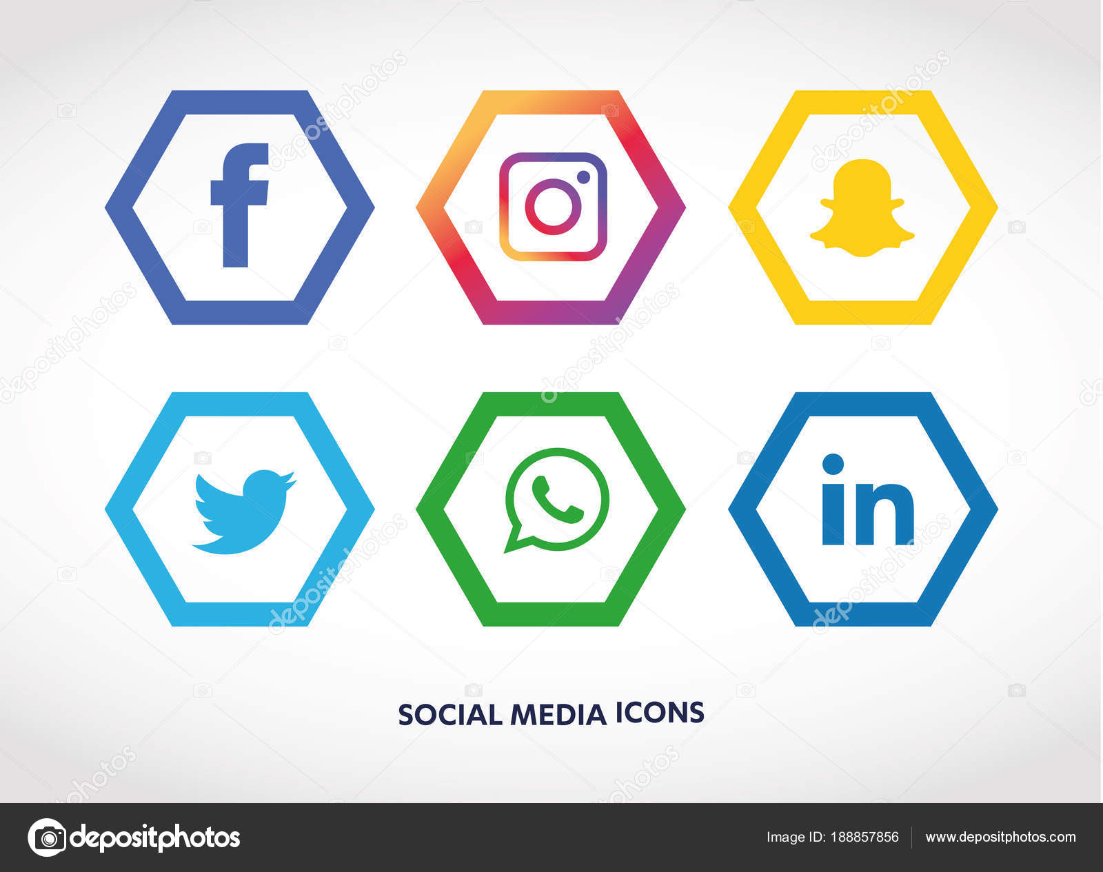 Social Media Icons Set Facebook Instagram Whatsapp