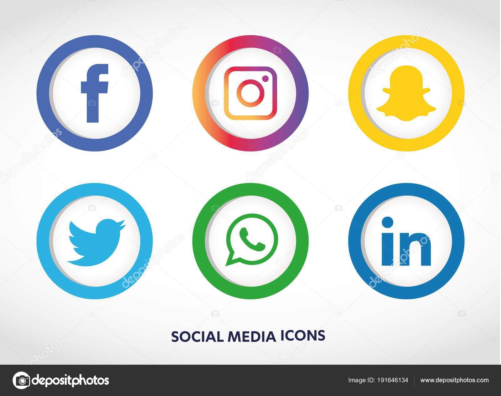 Vectores Descargar Iconos Del Whatsapp Conjunto Iconos Redes