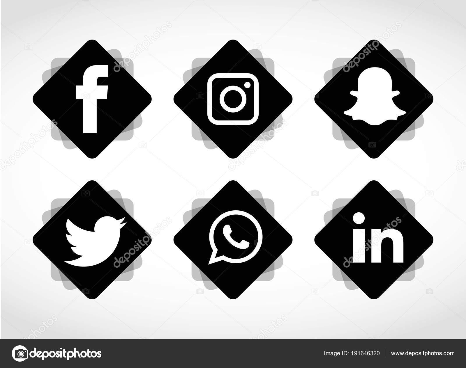 Fotos Icono Redes Sociales Whatsapp Conjunto Iconos Redes