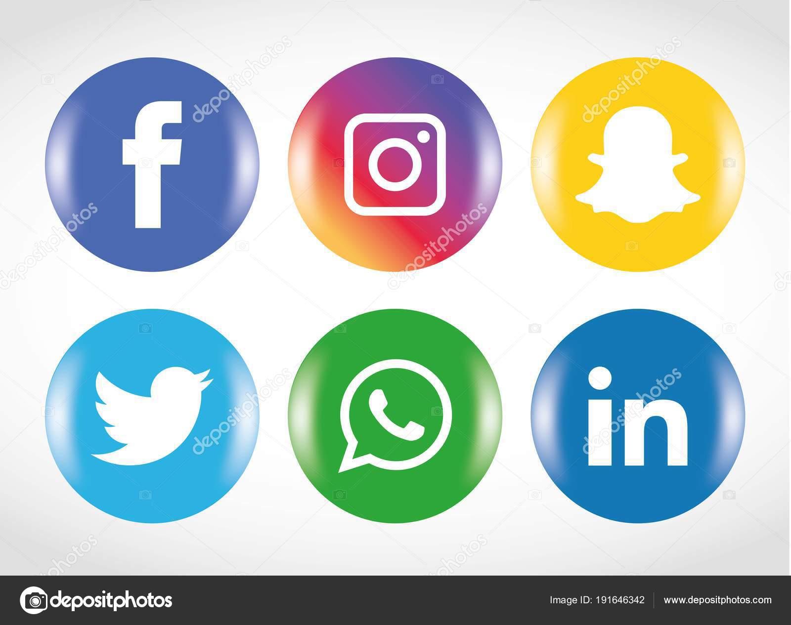 Vector Iconos Wasap Conjunto Iconos Redes Sociales Facebook