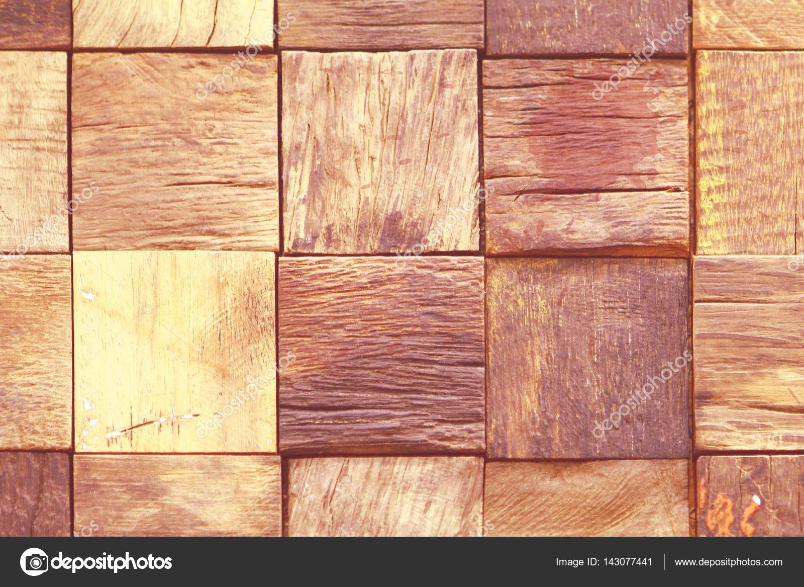 Priorità bassa del mosaico in legno rosso — Foto Stock ...