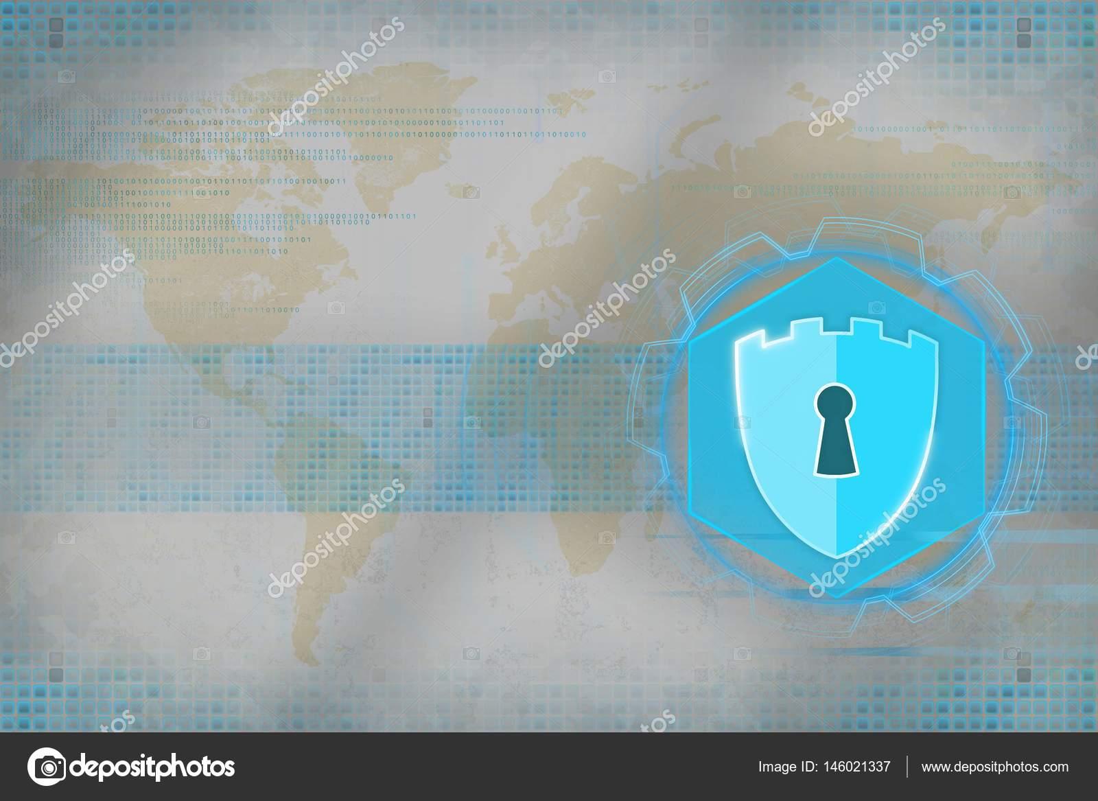 Sécurité du réseau carte blanche mondiale. Concept de sécurité Internet sur  fond de drapeau — Image de Anton Medvedev 1131d8751b94