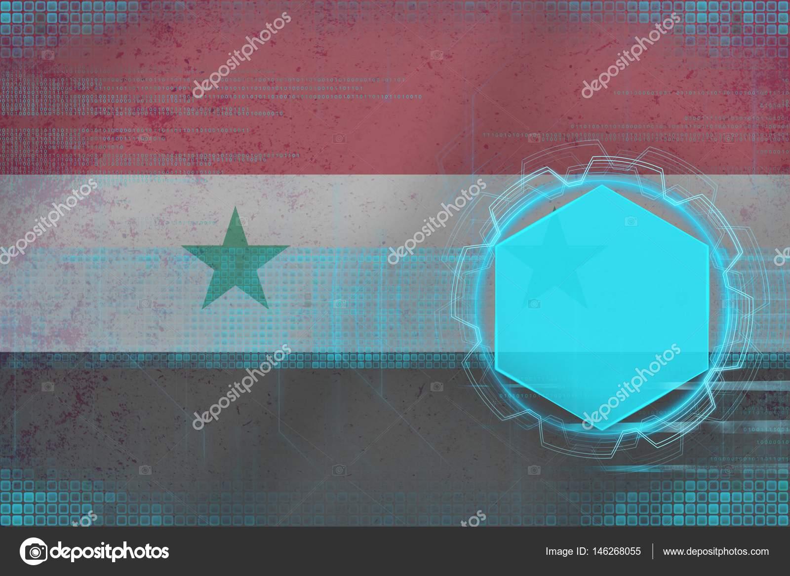 Maqueta Digital De La República árabe Siria Concepto De