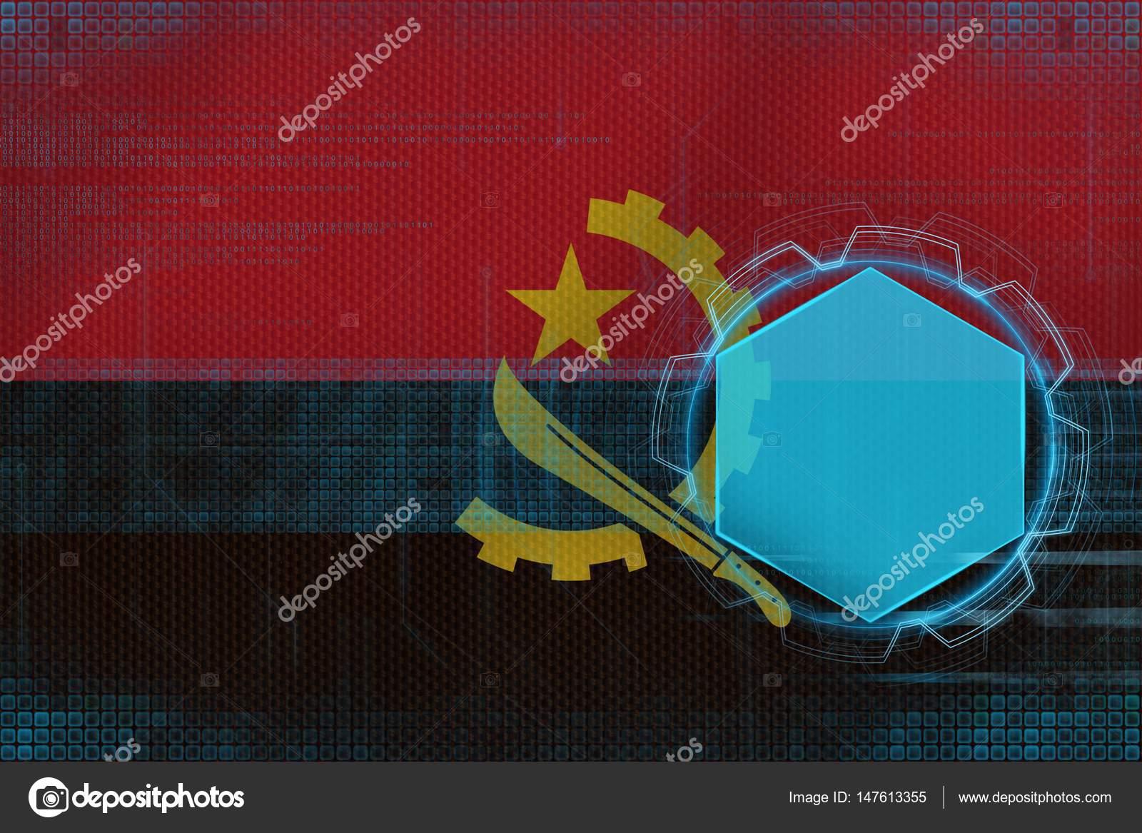 Maqueta Digital De Angola Concepto De Estructura