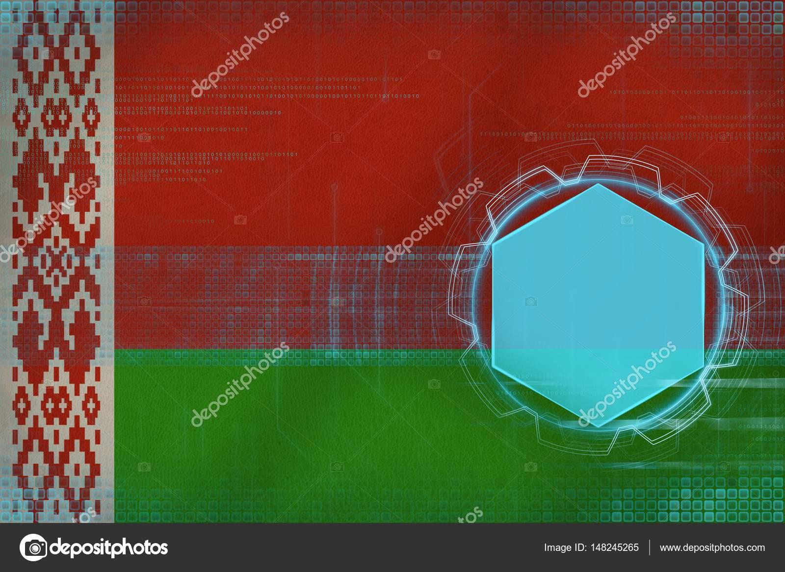 Maquete digital de bielorrússia. conceito moderno de quadro u2014 stock