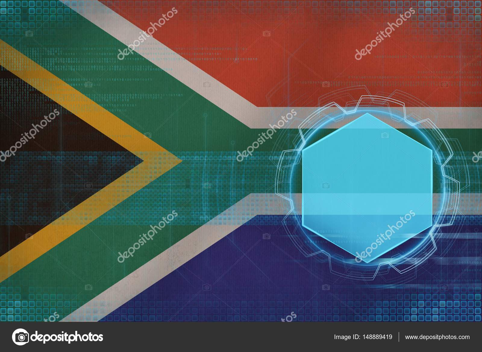 Maqueta Digital Del Sur De áfrica Concepto De Estructura