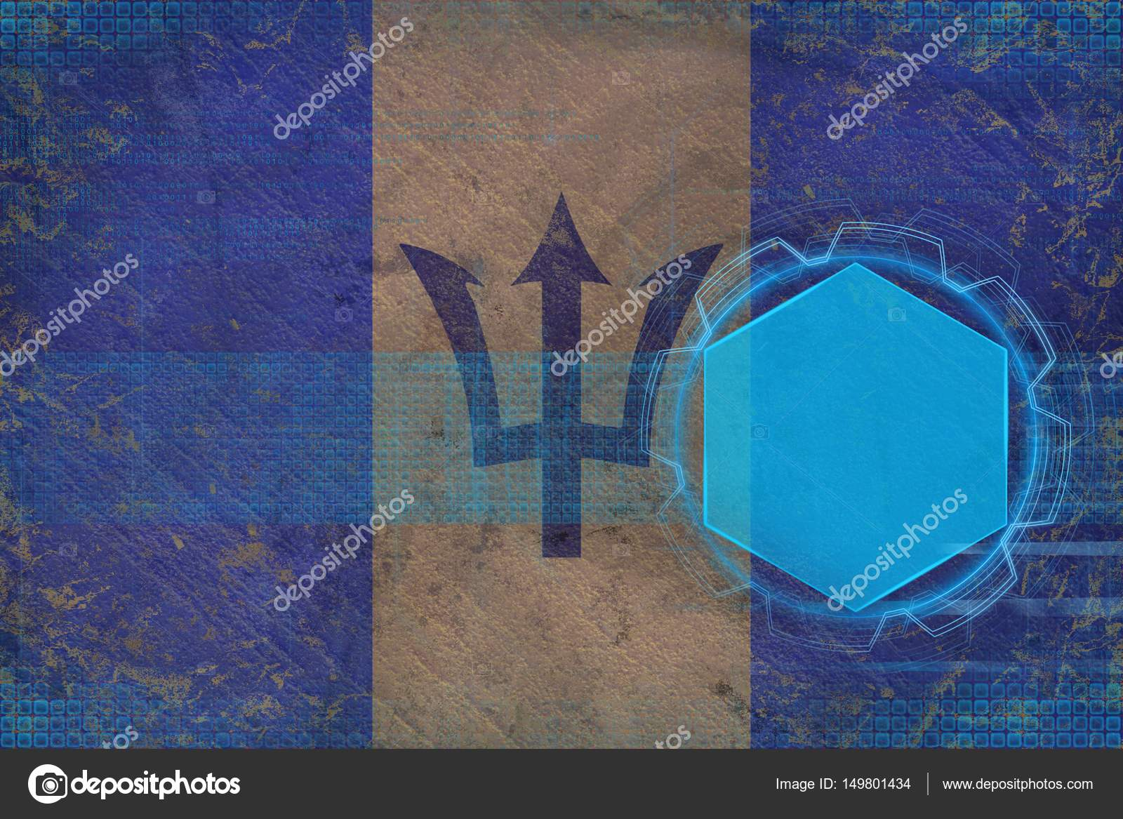 Maqueta Digital De Barbados Concepto De Estructura