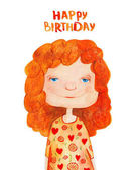 cute curly redhead girl