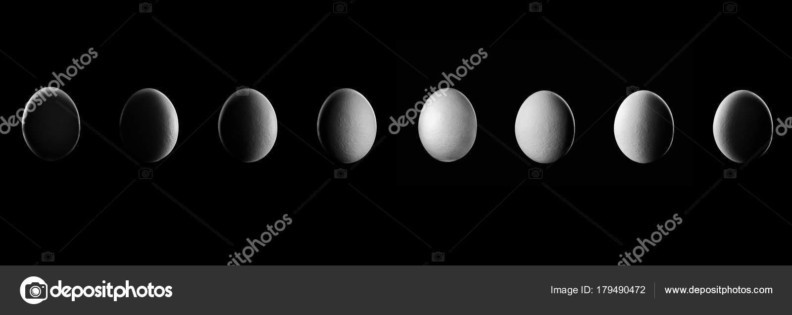 Cuarto menguante dibujo   Show de la fase de huevo de noche con ...