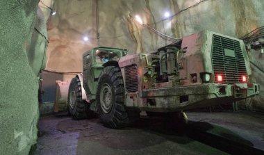 Excavator Huge Machine Under Ground