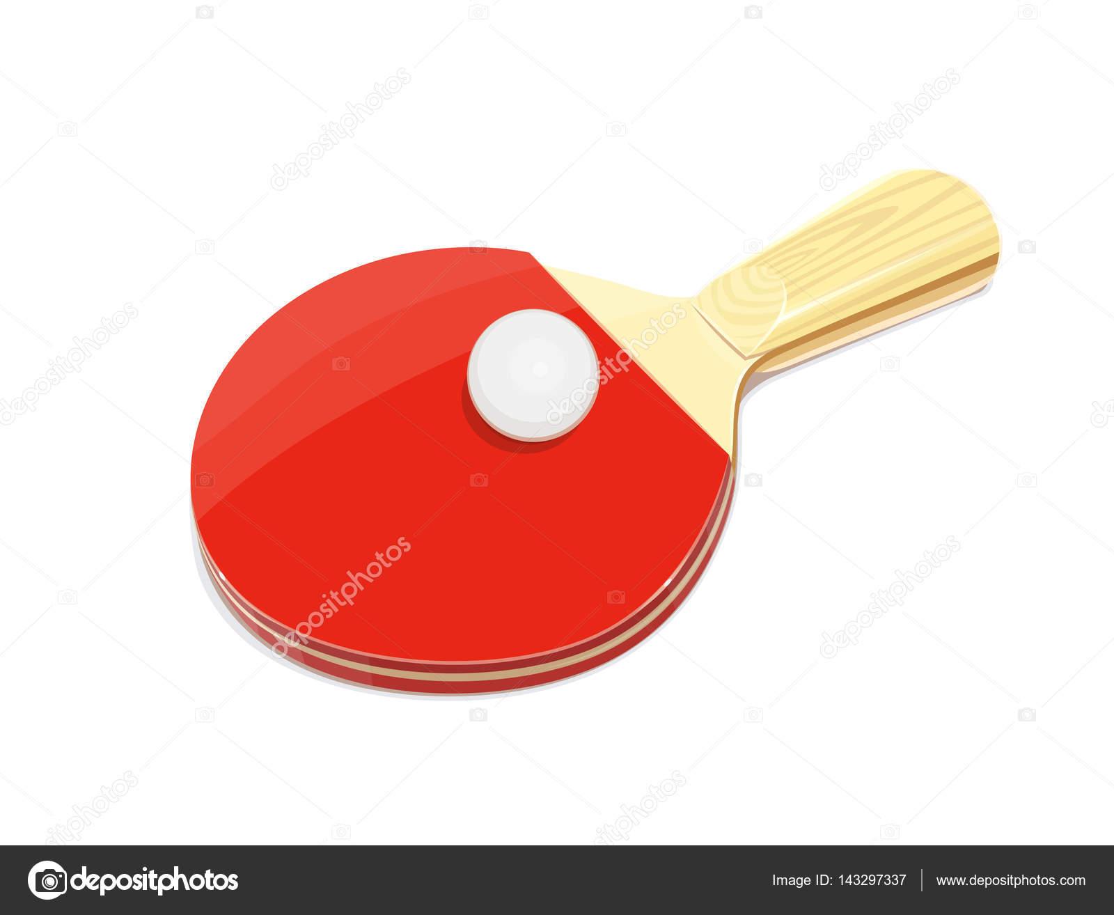 ebf8649a8 Raquete de tênis de mesa e bola. Jogo de ping-pong do esporte. Equipamento  desportivo. Ilustração em vetor. Isolado de fundo branco — Vetor por ...