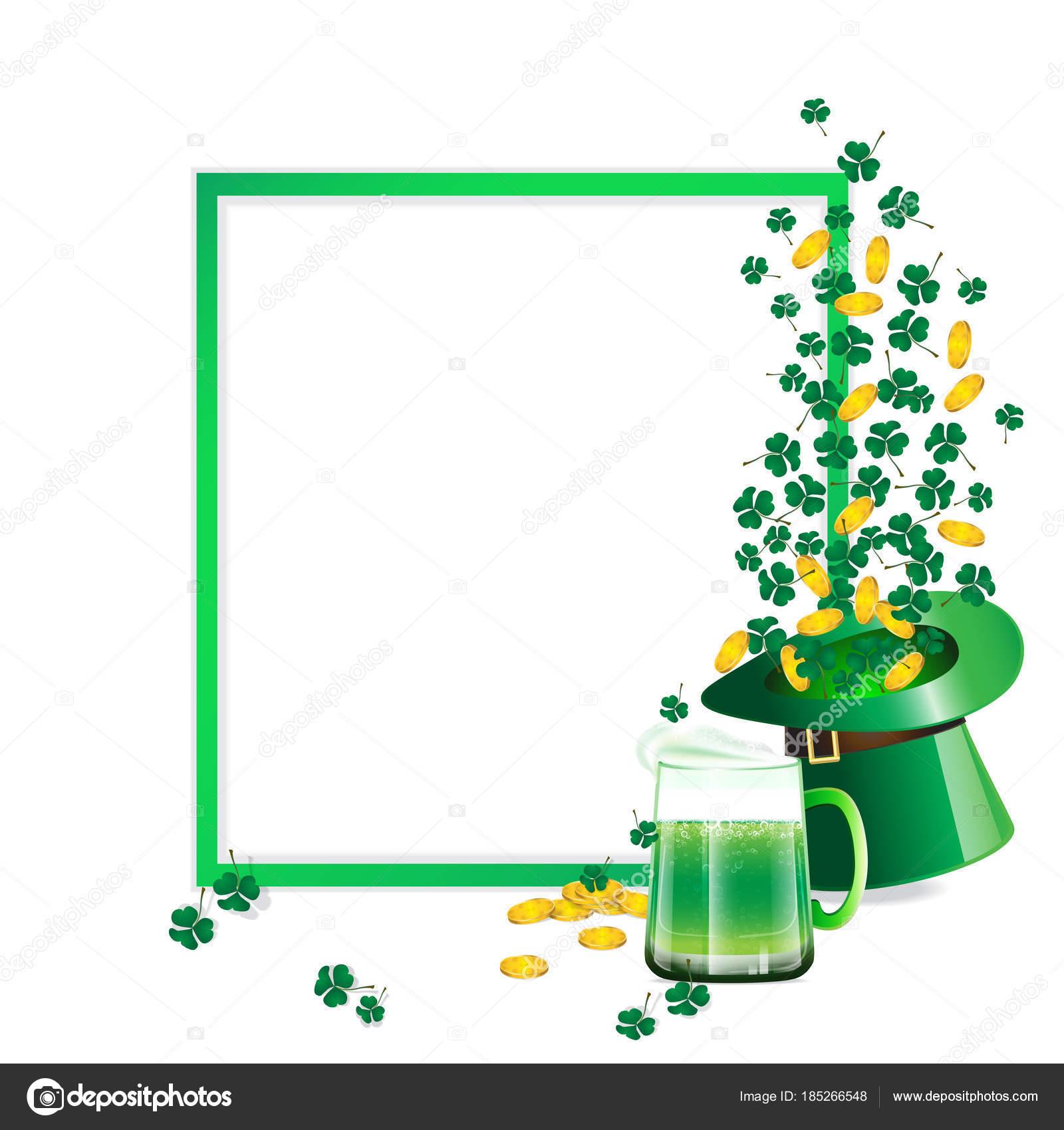 Marco Verde Como Espacio Copia Decoradas Con Vidrio Cerveza Verde ...