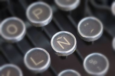 Spanish symbol typewriter