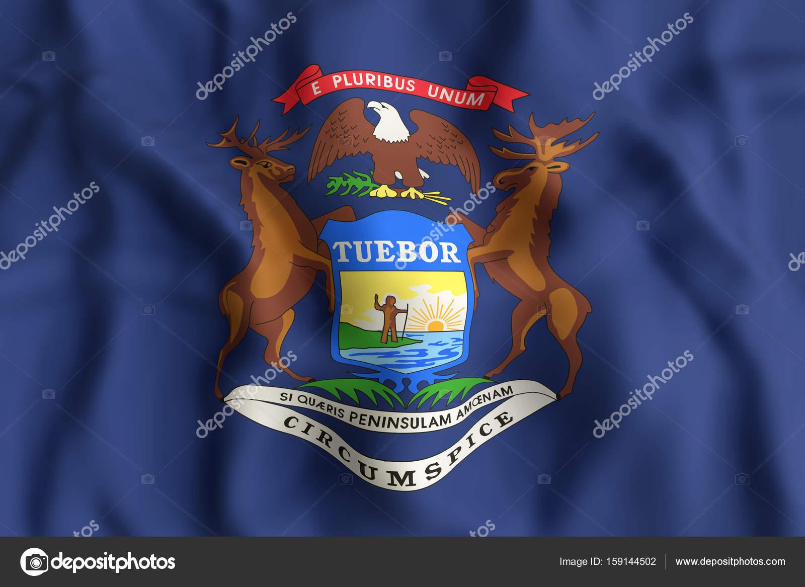 Bandera del estado de Michigan — Foto de stock © erllre #159144502