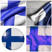 Finland flag composition