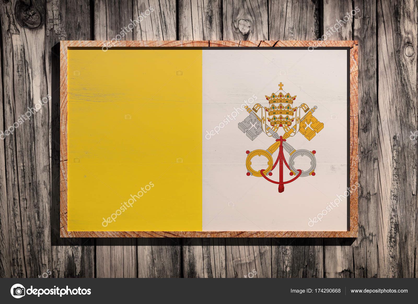 Hölzerne Vatikan Fahne — Stockfoto © erllre #174290668