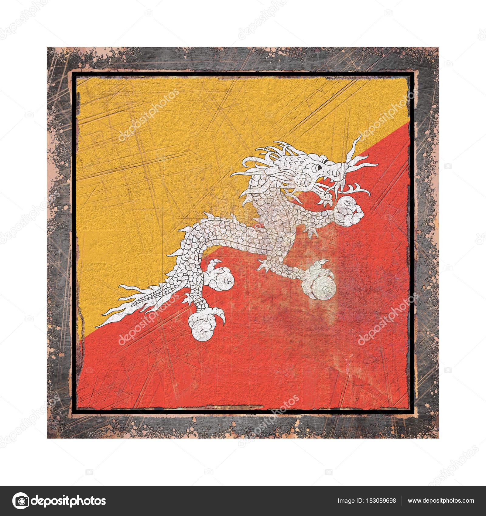 Alte Flagge Bhutan — Stockfoto © erllre #183089698