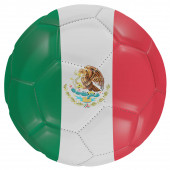 Mexico flag on a soccer ball