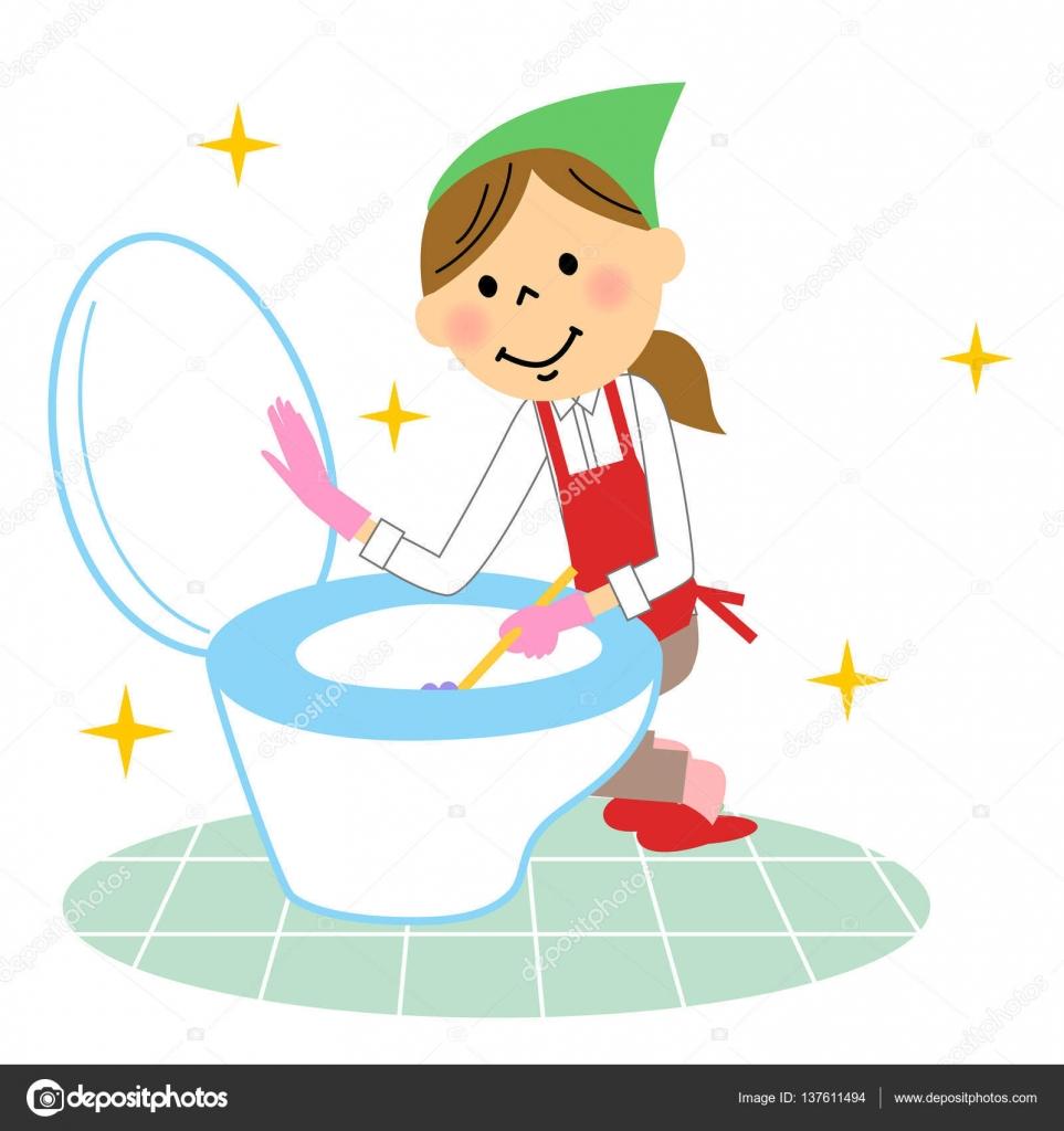 La señora que hace la limpieza de baños — Archivo Imágenes ...