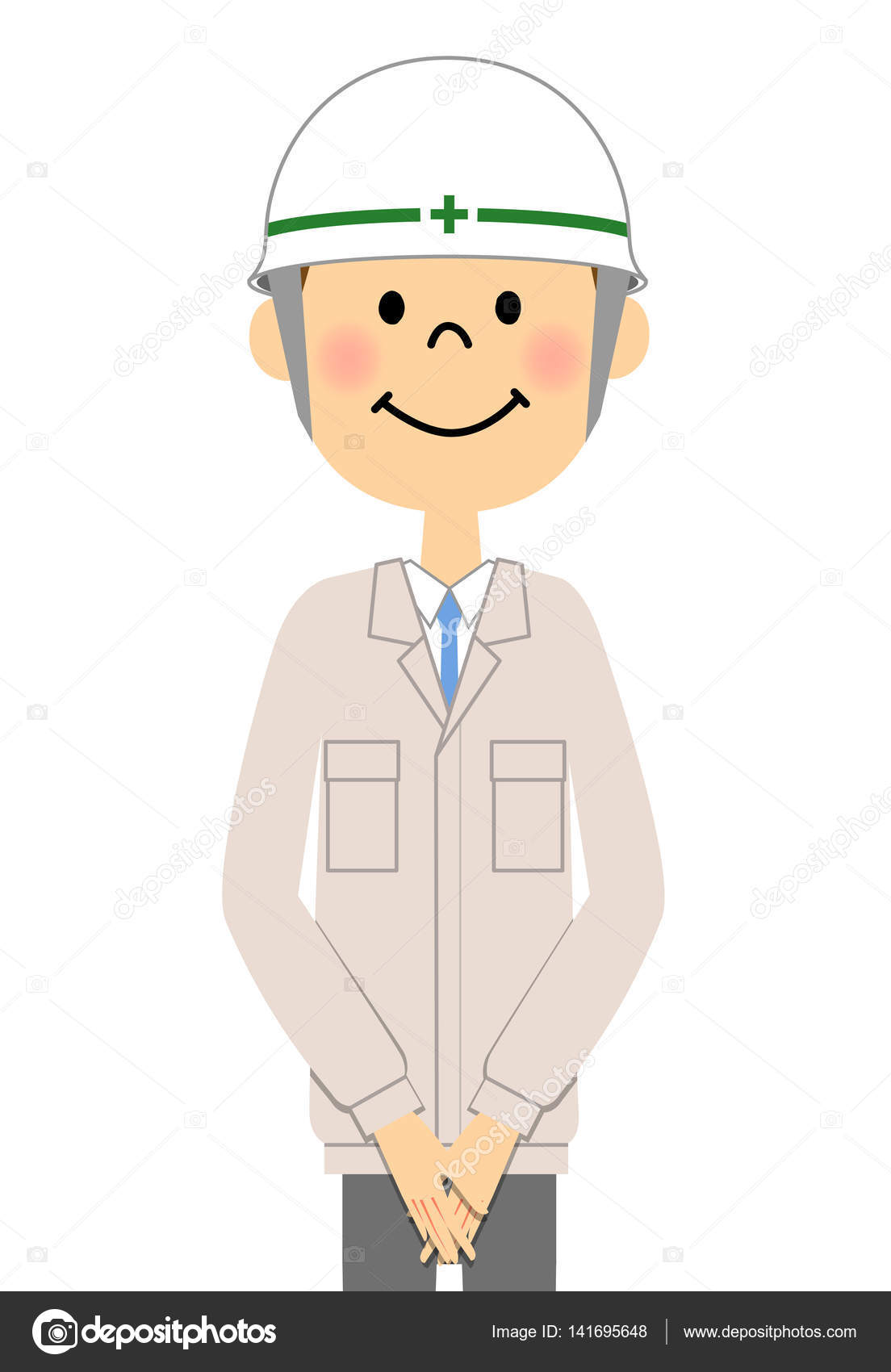 site supervisor, field manager,foreperson — Stock Vector ...