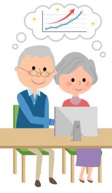 Elderly couple,Soaring