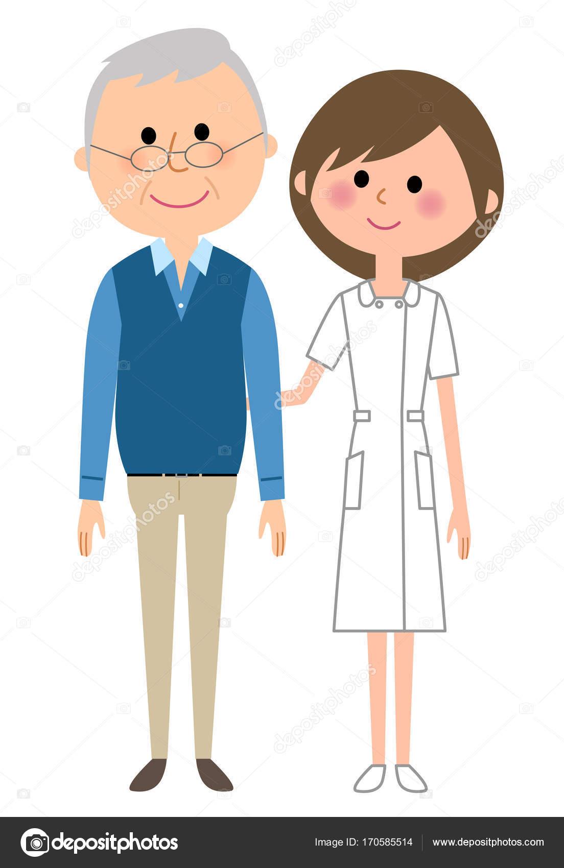 看護師と患者 ストックベクター Studiolaut 170585514
