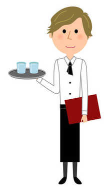 Cafe clerk, Waiter, To carry/
