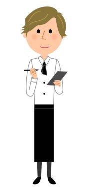 Cafe clerk, Waiter, Order/