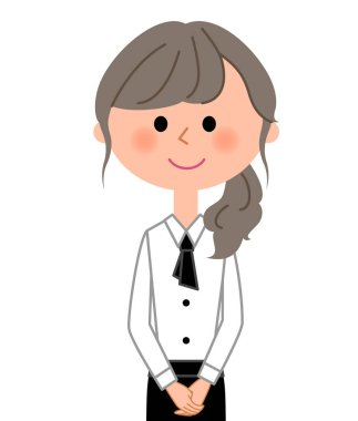 Cafe clerk, Waitress/It is an illustration of a waitress at a restaurant.