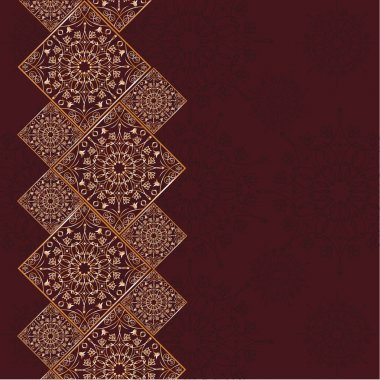 Traditional Arabic pattern. Template of greeting card with tradi