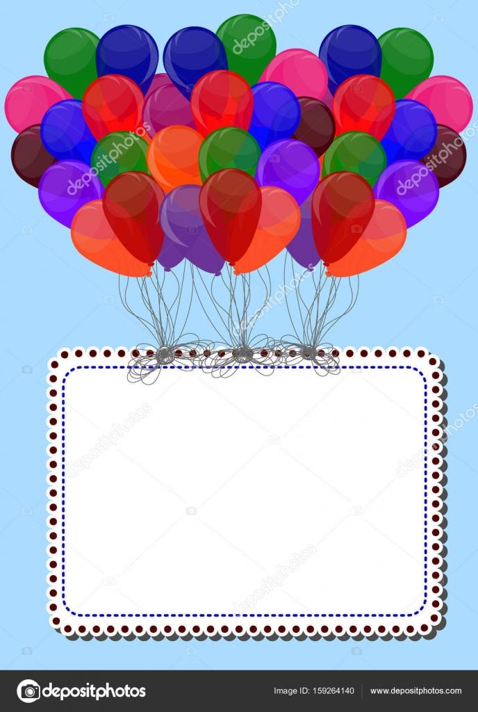 Die Ballon-Rahmen mit Platz für Text. Vorlage für die Dekoration p ...