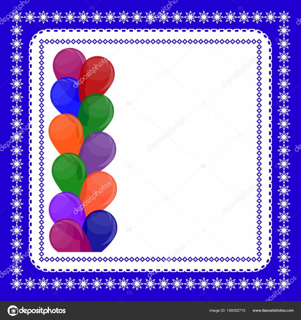 Die Ballon-Rahmen mit Platz für Text. Vorlage zur Begrüßung Auto ...
