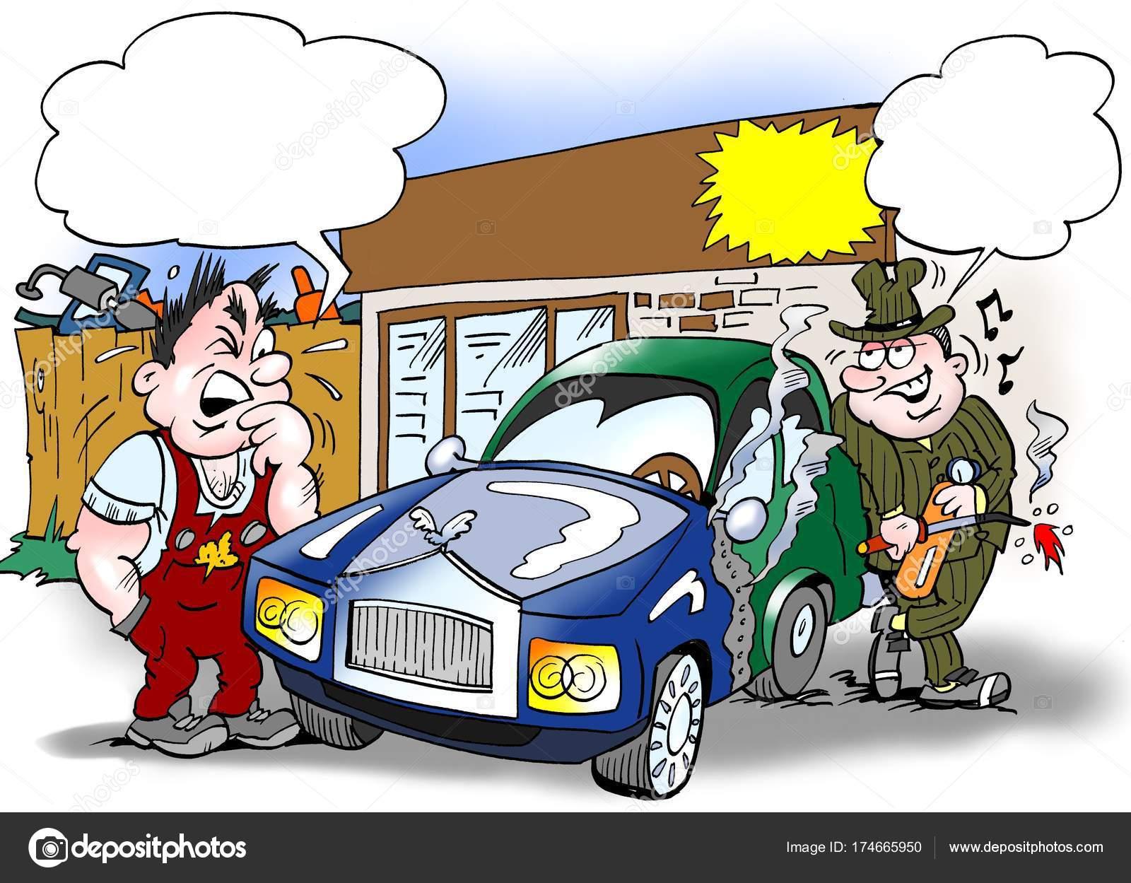 Ilustración De Dibujos Animados De Un Vendedor Y Un