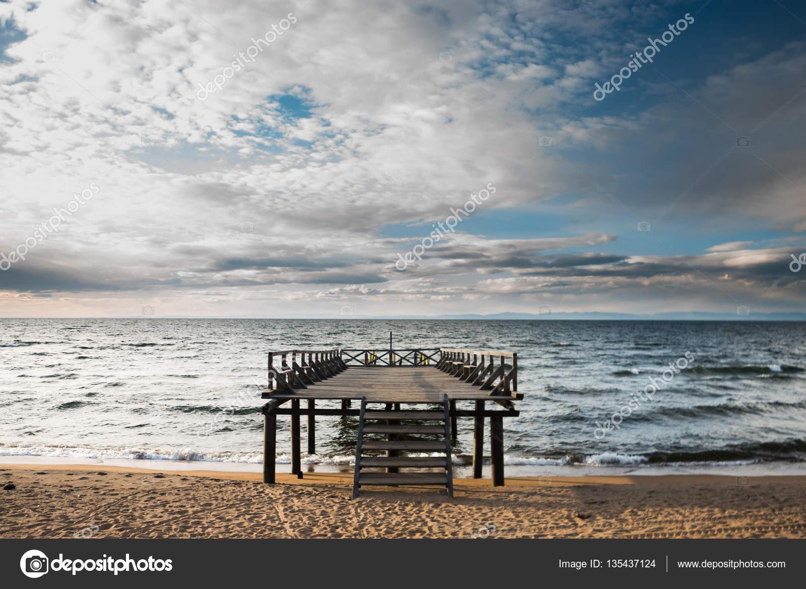 Pier on a sea